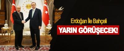 Erdoğan İle Bahçeli Yarın Görüşecek!