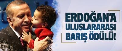 Erdoğan'a uluslararası barış ödülü!