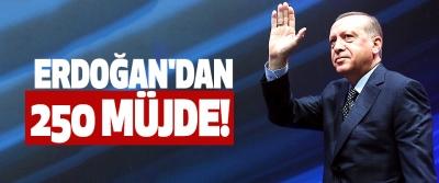 Erdoğan'dan 250 müjde!