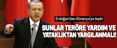 Erdoğan'dan Almanya'ya tepki