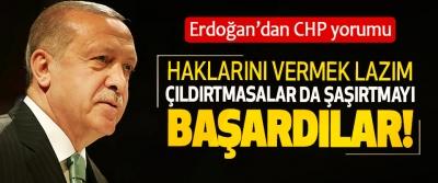Erdoğan'dan CHP yorumu