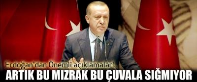 Erdoğan'dan Önemli açıklamalar!.