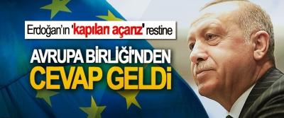 Erdoğan'ın 'kapıları açarız' restine Avrupa Birliği'nden Cevap Geldi