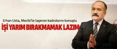 Erhan Usta, Meclis'te taşeron kadrolarını konuştu