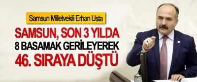 Erhan Usta: Samsun, son 3 yılda 8 basamak gerileyerek 46. sıraya düştü