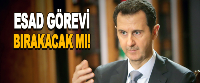 Esad Görevi Bırakacak Mı!