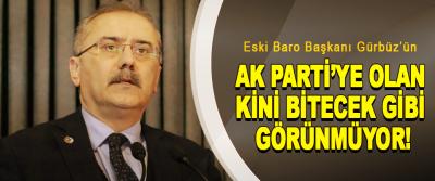 Eski Baro Başkanı Gürbüz'ün  Ak Parti'ye Olan Kini Bitecek Gibi Görünmüyor!