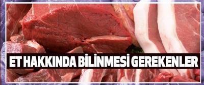Et Hakkında Bilinmesi Gerekenler