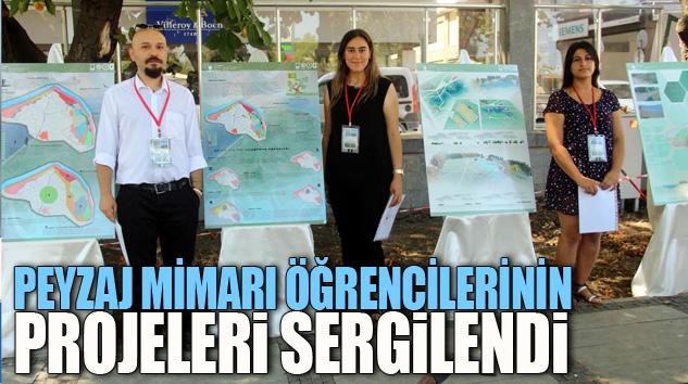 Peyzaj Mimarı Öğrencilerinin Projeleri Sergilendi