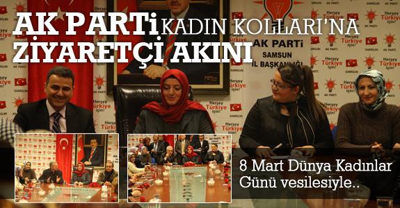 AK Parti Samsun Kadın Kolları'na ziyaretçi akını