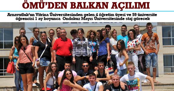 Ondokuz Mayis Üniversitesi Tip Fakültesinden Balkanlara Eğitim Açilimi