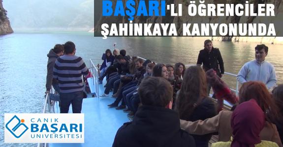 BAŞARI'LI ÖĞRENCİLER ŞAHİNKAYA KANYONUNDA