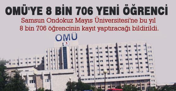 Omü'ye 8 Bin 706 yeni Öğrenci Kayıt Yaptıracak