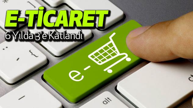 E-Ticaret 6 Yılda 3'e Katlandı