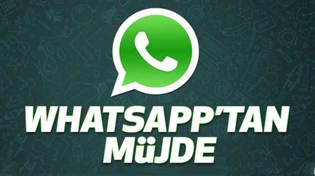 Whatsapp'tan Müjde