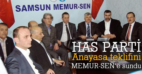 HAS Parti Anayasa teklifini Memur-Sen'e sundu