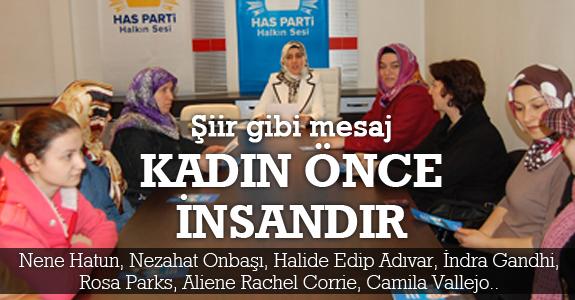 HAS Parti Samsun Kadın Kolları'ndan 8 Mart Mesajı