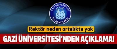 Gazi Üniversitesi'nden açıklama!