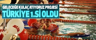 Geleceğe Kulaç Atıyoruz Projesi Türkiye 1.si Oldu