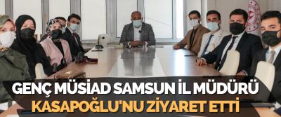 Genç Müsiad Samsun İl Müdürü Kasapoğlu'nu Ziyaret Etti