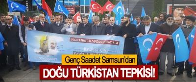 Genç Saadet Samsun'dan Doğu Türkistan tepkisi!