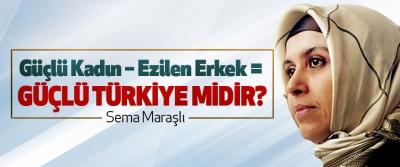 Güçlü kadın – ezilen erkek = Güçlü Türkiye midir?