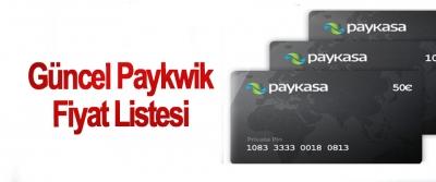 Güncel Paykwik Fiyat Listesi