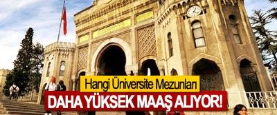 Hangi Üniversite Mezunları Daha Yüksek Maaş Alıyor!