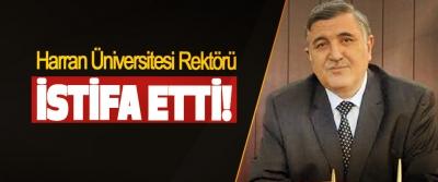 Harran Üniversitesi Rektörü İstifa Etti!