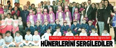 Hasköy Cumhuriyet İlkokulu ve Ortaokulu öğrencileri Hünerlerini Sergilediler