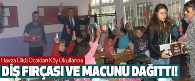 Havza Ülkü Ocakları Köy Okullarına Diş fırçası ve macunu dağıttı!