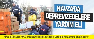 Havza'da Depremzedelere Yardım Eli