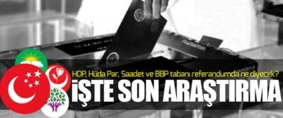 HDP, Hüda Par, Saadet ve BBP tabanı referandumda ne diyecek?