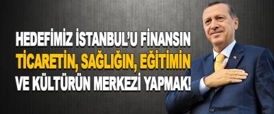 Hedefimiz İstanbul'u Finansın, Ticaretin, Sağlığın, Eğitimin Ve Kültürün Merkezi Yapmak!