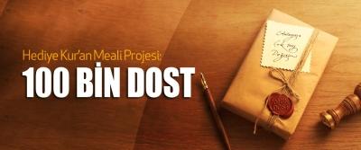 Hediye Kur'an Meali Projesi: 100 Bin Dost