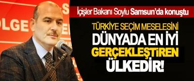 İçişler Bakanı Soylu: Türkiye seçim meselesini dünyada en iyi gerçekleştiren ülkedir!
