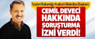 İçişleri Bakanlığı Atakum Belediye Başkanı Cemil Deveci Hakkında Soruşturma Verdi!
