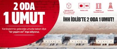 İHH İdlib'te 2 Oda 1 Umut!