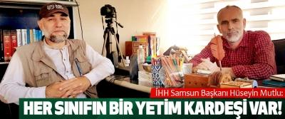 İHH Samsun Başkanı Hüseyin Mutlu: Her sınıfın bir yetim kardeşi var!