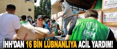 İHH'dan 16 Bin Lübnanlıya Acil Yardım!