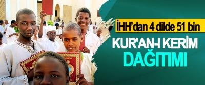 İHH'dan 4 dilde 51 bin Kur'an-I Kerim Dağıtımı