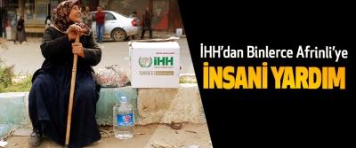 İHH'dan Binlerce Afrinli'ye insani yardım