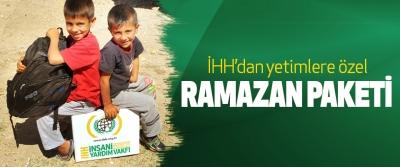 İHH'dan yetimlere özel Ramazan Paketi