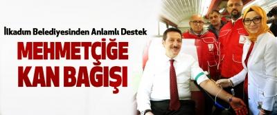 İlkadım Belediyesinden Mehmetçiğe Kan Bağışı
