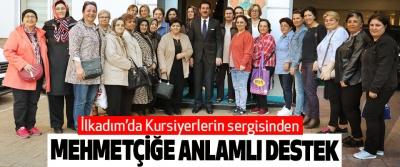 İlkadım'da Kursiyerlerin sergisinden Mehmetçiğe Anlamlı Destek