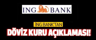 İng Bank'tan döviz kuru açıklaması!