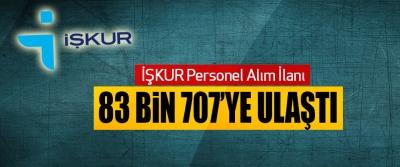 İŞKUR Personel Alım İlanı 83 bin 707'ye ulaştı