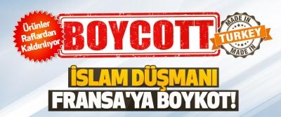 İslam Düşmanı Fransa'ya Boykot!