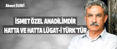 İsmet Özel Anadilimdir,Hatta Ve Hatta Lûgat-İ Türk'tür