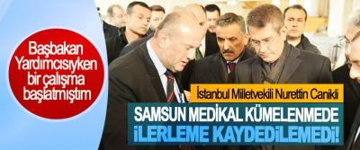 İstanbul Milletvekili Nurettin Canikli; Samsun medikal kümelenmede ilerleme kaydedilemedi!